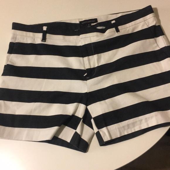 03a14927f2 Banana Republic Shorts | Navy Bluewhite Stripes | Poshmark